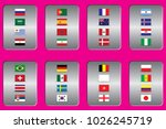 vector flags of the country.... | Shutterstock .eps vector #1026245719