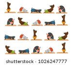 white background with yoga...   Shutterstock .eps vector #1026247777