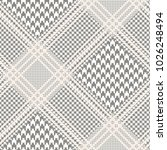 glen plaid pattern in taupe and ... | Shutterstock .eps vector #1026248494