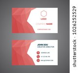 business card. vector. modern... | Shutterstock .eps vector #1026252529