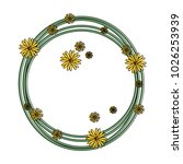 circular frame with flowers... | Shutterstock .eps vector #1026253939