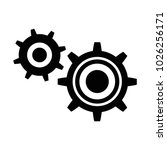 gears machinery isolated icon | Shutterstock .eps vector #1026256171