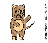 grated adorable and cute dog... | Shutterstock .eps vector #1026263575