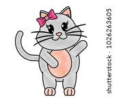 grated adorable female cat... | Shutterstock .eps vector #1026263605