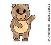grated adorable bear wild... | Shutterstock .eps vector #1026263611