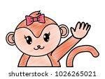 grated adorable female monkey... | Shutterstock .eps vector #1026265021