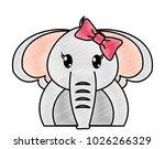 grated adorable female elephant ... | Shutterstock .eps vector #1026266329