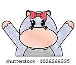 grated adorable female... | Shutterstock .eps vector #1026266335