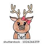 grated adorable female reindeer ... | Shutterstock .eps vector #1026266359