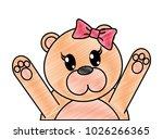 grated adorable female bear... | Shutterstock .eps vector #1026266365