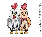 grated rooster and hen couple... | Shutterstock .eps vector #1026267205