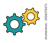 gears machinery isolated icon | Shutterstock .eps vector #1026270271