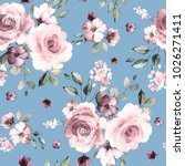 seamless pattern with spring... | Shutterstock . vector #1026271411