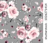 seamless pattern with spring... | Shutterstock . vector #1026271414