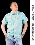 male model posing in studio... | Shutterstock . vector #102627485