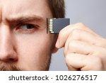 handsome man at studio... | Shutterstock . vector #1026276517