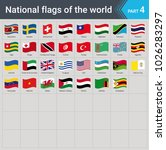 waving flags of the world.... | Shutterstock .eps vector #1026283297