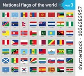flags of the world. vector... | Shutterstock .eps vector #1026283957