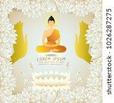 buddha floating in center of...   Shutterstock .eps vector #1026287275