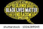 black lives matter word cloud... | Shutterstock .eps vector #1026289045