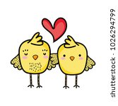 chicks couple together and love ... | Shutterstock .eps vector #1026294799