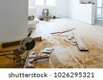 apartment repair wall repair... | Shutterstock . vector #1026295321