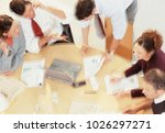 a photo of business meeting | Shutterstock . vector #1026297271