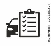 car maintenance list icon | Shutterstock .eps vector #1026301624
