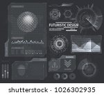 futuristic interface hud design ... | Shutterstock .eps vector #1026302935