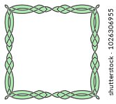 a square celtic frame with a... | Shutterstock .eps vector #1026306955
