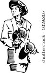 vector illustration of musician. | Shutterstock .eps vector #1026307