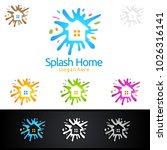 home painting vector logo design | Shutterstock .eps vector #1026316141
