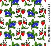 set of berries vector...   Shutterstock .eps vector #1026316615