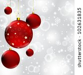 christmas ball with gold star... | Shutterstock . vector #102631835