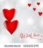 transparent red hearts on... | Shutterstock . vector #102632195