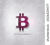 cryptocurrency concept. ... | Shutterstock .eps vector #1026325477