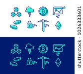 crypto blockchain icon set... | Shutterstock .eps vector #1026333601