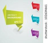 vector origami paper banners... | Shutterstock .eps vector #102634661