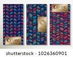 vector set packaging templates... | Shutterstock .eps vector #1026360901