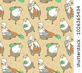 seamless pattern with guinea...
