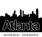 atlanta skyline with... | Shutterstock . vector #1026369421