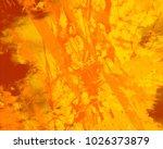 abstract painting. ink handmade ... | Shutterstock . vector #1026373879