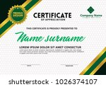 certificate template with...   Shutterstock .eps vector #1026374107