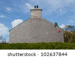 The Gable End Of A House With...