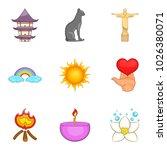 getaway icons set. cartoon set... | Shutterstock .eps vector #1026380071