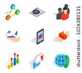 scientific work icons set.... | Shutterstock .eps vector #1026380131