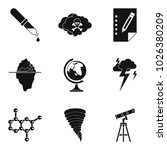 scientific research icons set.... | Shutterstock .eps vector #1026380209