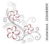 Vector Floral Corner Design....