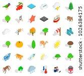 nature scenery icons set