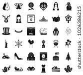 folklore icons set. simple set... | Shutterstock .eps vector #1026386215